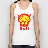 hell Tank Tops featuring HELL by karmadesigner