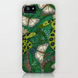 entangled forest green iPhone Case