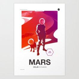 Moon 2 Mars - Mars Art Print