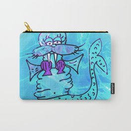Walrus Mermaid says Let it ALL Hang Out Carry-All Pouch