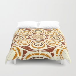Brown and tan abstract Duvet Cover