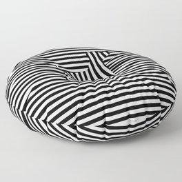Dog on Stripes Floor Pillow