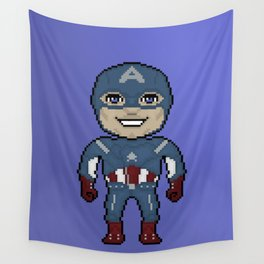 Pixelated Heroes Capt. America Super Hero Wall Tapestry