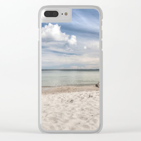 Dream beach Sea Ocean Summer Maritime Navy clouds Clear iPhone Case