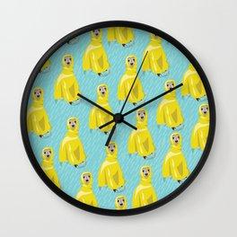 iggy in rain coat Wall Clock