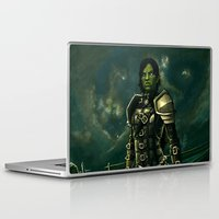 skyrim Laptop & iPad Skins featuring Skyrim - Shro-gan vampire hunter by Amber Hague
