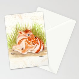 Dear Little Deer - animal watercolor painting Stationery Cards