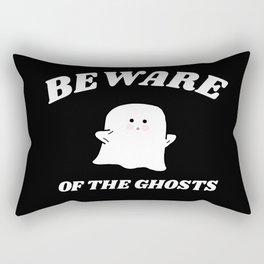 beware of the ghosts Rectangular Pillow