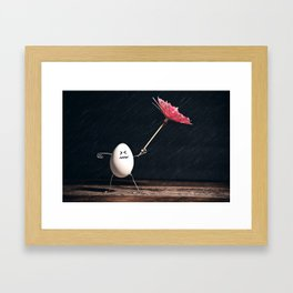 Not Egg-actly Nice Weather Framed Art Print