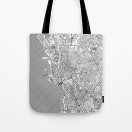 Manila Map Line Tote Bag