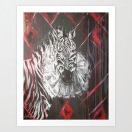 Sad Zebra Art Print