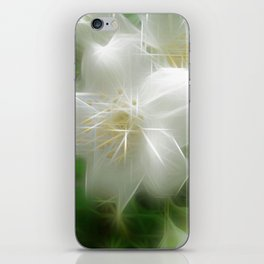 White Shiny Jasmine iPhone Skin