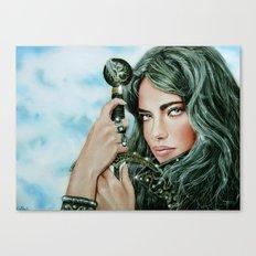 Warrior girl Canvas Print