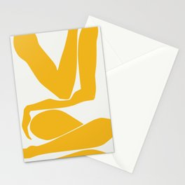 Yellow anatomy Stationery Cards
