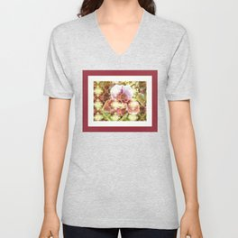 Orchid Collage Unisex V-Neck
