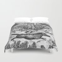 sisters Duvet Covers featuring Sisters by Ulrika Kestere