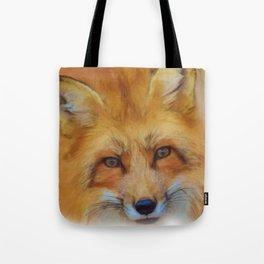 Fox in a close-up Tote Bag