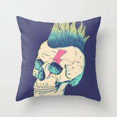 Skull Punk Throw Pillow
