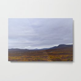 Nome River Valley in Autumn Metal Print