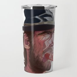 Caricature of Clint Eastwood Travel Mug