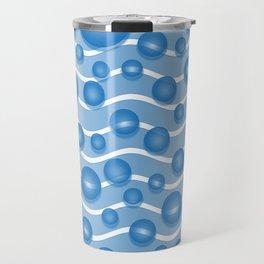 fresh blue water bubbles Travel Mug