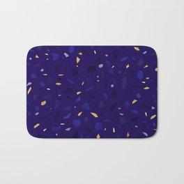 Blue Terrazzo Pattern Bath Mat