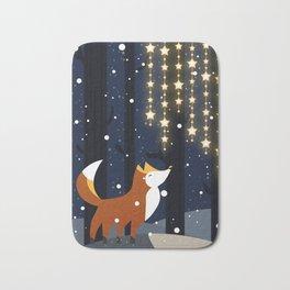 Fox and stars Bath Mat