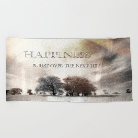Happiness Beach Towel