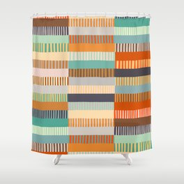 Fall Grandmother's Quilt Shower Curtain
