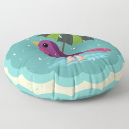 Rainy Days Are Still Good Days Floor Pillow