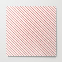 Peach Echo Stripe Metal Print
