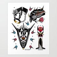 lotr Art Prints featuring LOTR flash set by DerickJames