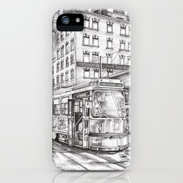 Spadina King (black and white) iPhone Case
