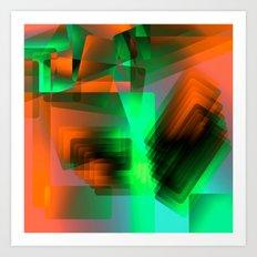 Escarpment Ignite Art Print
