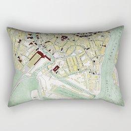 Vintage Venice historic map Italy retro travel design Rectangular Pillow