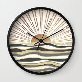 Sun Breeze-Vanilla shade Wall Clock