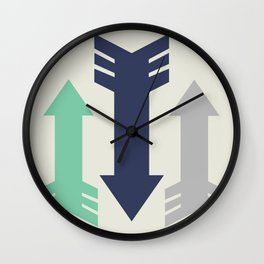 Arrow, Arrow, Arrow. What's going on 'ere then? Wall Clock