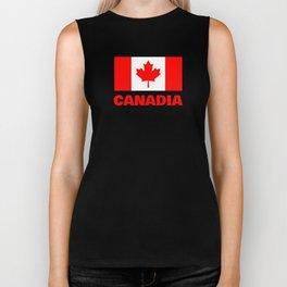 Canadia - Canadan Flag Biker Tank