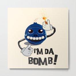 Da Bomb Metal Print