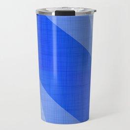 Lapis Lazuli Shapes - Cobalt Blue Abstract Travel Mug