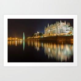 Palma Cathedral - Palma de Mallorca Spain Art Print