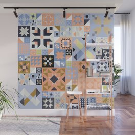 Peach and Lavender Quilt Wall Mural