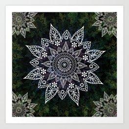 Mandala Rising Soul Spiritual Zen Bohemian Hippie Yoga Mantra Meditation Kunstdrucke