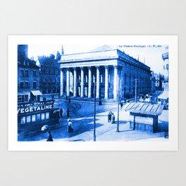 Vintage Postcard Dijon France Le Theatre Municipal circa 1900 Art Print