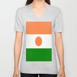 Flag of Niger Unisex V-Neck