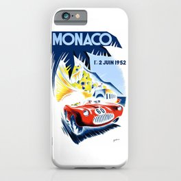 1952 Monaco Grand Prix Race Poster  iPhone Case