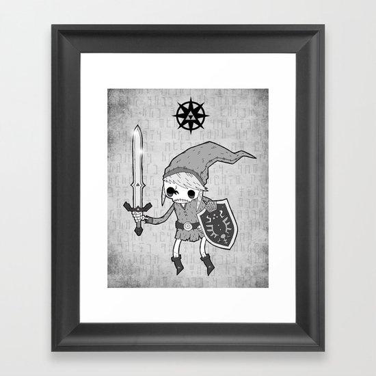 Undead Link Framed Art Print