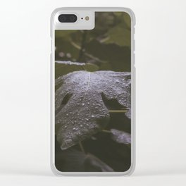 Wet Leaf Clear iPhone Case