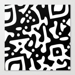 QR Clothes Black Canvas Print