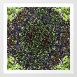 Bee in Flowers Art Print